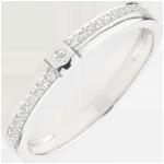 comprare on-line Fede con diamanti Mille Meraviglie - Oro bianco - 18 carati - 23 Diamanti