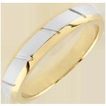 Fede Magnus - Oro giallo e Oro bianco - 18 carati