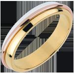 Fede nuziale - Anelli Solari - Oro rosa, Oro bianco e Oro giallo - 18 carati