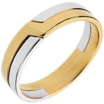 Fede nuziale - Chiave di Volta - Oro bianco e Oro giallo - 18 carati