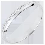 Fede nuziale - Dolce Equilibrio - Oro bianco - 18 carati