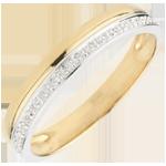 Fede nuziale Eleganza - Oro giallo e Oro bianco - 18 carati