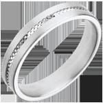 Fede nuziale - Impronta - Oro bianco - 18 carati