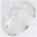 Fede nuziale Japanor - Oro bianco - 18 carati