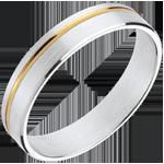 comprare on-line Fede nuziale - Mathis - Oro bianco e Oro giallo - 18 carati