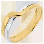 Fede nuziale Passione Eden - Oro bianco e Oro giallo -18 carati