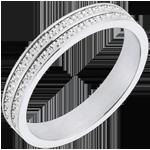 Fede nuziale - Strade della vita - Oro bianco - 18 carati