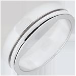 Fede Olympia - modello grande - Oro bianco - 18 carati