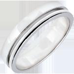 matrimoni Fede Olympia - modello medio - Oro bianco - 9 carati