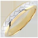 Fede Tessitura - Oro bianco e Oro giallo - 9 carati