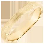 Fede uomo Giungla Sacra - 4 mm - oro giallo spazzolato 9 carati