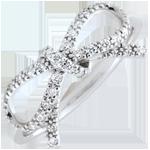 online kaufen Feine Schleife mit Diamanten - Silber und Diamanten