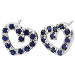 Festive Sapphire Heart Earrings