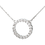 Firmament necklace white gold - 0.75 carat - 19 diamonds