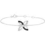 sell on line Freshness Bracelet - Lilies of summer - white gold and black diamonds