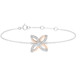 gift woman Freshness Bracelet - Lilies of summer - white gold, rose gold