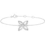 Freshness Bracelet - Lilies of summer - white gold