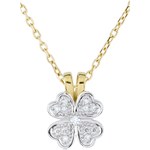 gift Freshness Pendant - Tender clover - diamonds