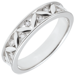 gift woman Freshness wedding ring - Ancient Rome - white gold - 7 diamonds - 9 carats