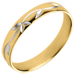 sales on line Freshness wedding ring - Ivy engraved - Yellow gold - 18 carat