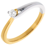 jewelry Fusion Solitaire ring yellow and white gold