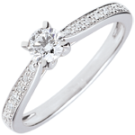 gifts woman Garlane Solitaire Ring with 4 claws - 0.25 carat - 18 carats