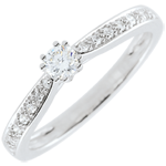 on line sell Garlane Solitaire Ring with 8 claws - 0.15 carat - 18 carats