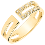women Gloria Ring - 15 diamonds - yellow gold 18 carats