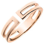 present Gloria Ring - 18 carat brushed pink gold