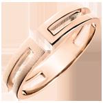 weddings Gloria Ring - 18 carat brushed pink gold