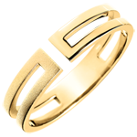 women Gloria Ring - 9 carat brushed yellow gold