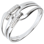 Geschenk Frau Gold und Diamant Ring Klammer