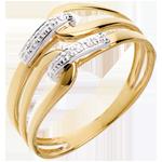 online kaufen Gold- und Diamantring Klammer in Gelbgold