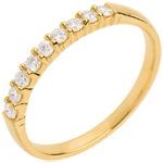gifts Half eternity ring gold semi paved classic prong setting - 0.25 carat - 9 diamonds