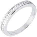 women Half eternity ring white gold channel setting - 0.3 carat
