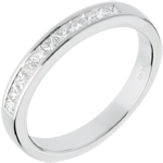 women Half eternity ring white gold semi-paved channel setting - 0.31 carat - 11 diamonds