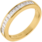 gifts women Half eternity ring yellow gold channel setting - 0.5 carat