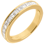buy Half eternity ring yellow gold channel setting - 0.7 carat - 13 diamonds
