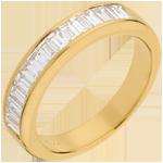 Half eternity ring yellow gold channel setting - 0.75 carat
