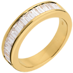 Half eternity ring yellow gold channel setting - 1 carat