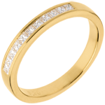Half eternity ring yellow gold semi-pave channel setting - 0.31 carat - 11 diamonds
