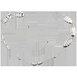 Halskette Talisman - aus Weißgold, Perlen und Diamanten