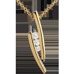 Geschenke Halskette Trilogie Kostbarer Kokon - Abschweifung - Gelbgold - 18 Karat