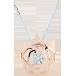 Halsketting Frisheid - Roos Absoluut - roze goud - 18 karaat
