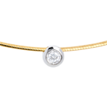 Halsketting Kabel 18 karaat geelgoud met Diamant