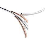 Halsketting - Schaduwrijk - roze goud, wit goud