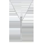 Halsketting Sterrenbeeld - Astraal - wit goud en diamanten - 9 karaat