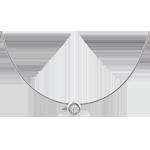 Halsketting wit goud diamanten ( Groot model )