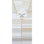 Halsketting Zachte wind - 2 Goudsoorten - 18 karaat goud