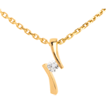 Hanger Apostrophe Diamant - Geel Goud - 0.09 karaat